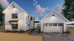 Modern-Farmhouse Style House Plans Plan: 52-304