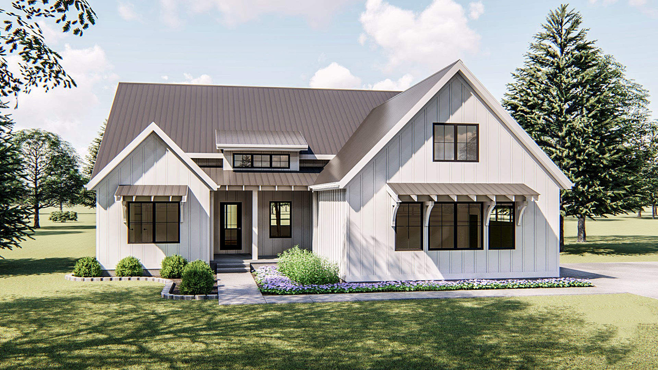 Modern-farmhouse Style House Plans Plan: 52-313