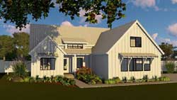 Modern-Farmhouse Style Home Design 52-313