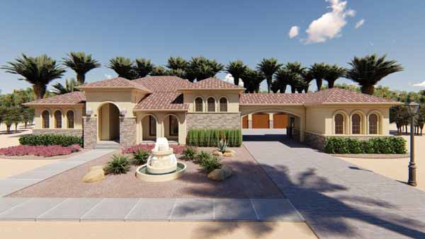 Mediterranean Style House Plans Plan: 52-316