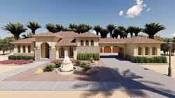 Mediterranean Style Home Design Plan: 52-316