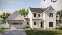 Modern-Farmhouse Style House Plans Plan: 52-351