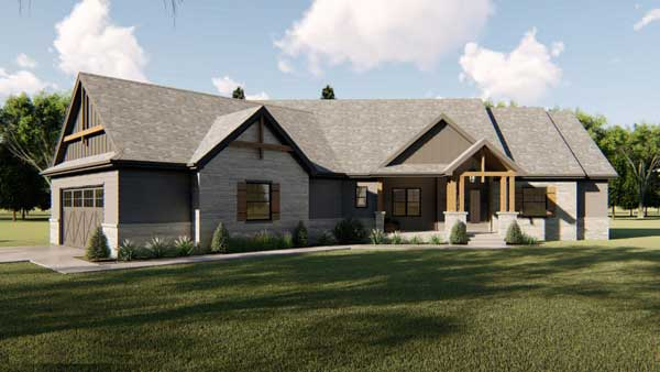 Craftsman Style Floor Plans 52-352