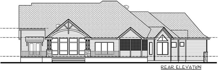 Rear Elevation Plan: 52-352