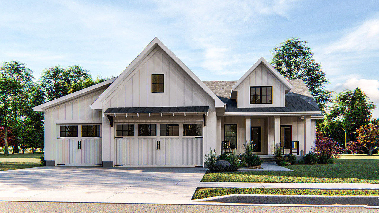 Modern-farmhouse House Plan - 3 Bedrooms, 2 Bath, 1733 Sq Ft ... on