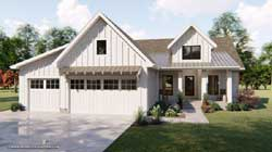 Modern-Farmhouse Style Home Design 52-353