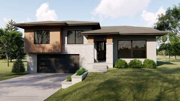 Modern Style Home Design 52-355
