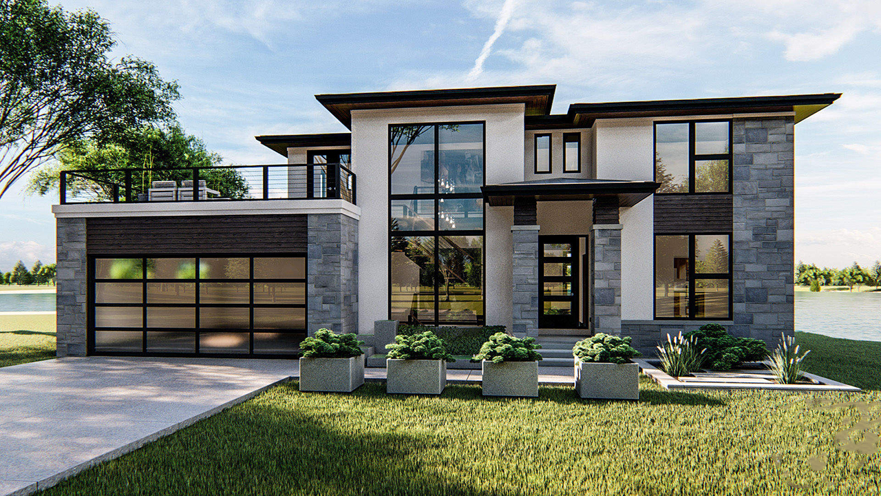 Modern Style House Plans Plan: 52-360