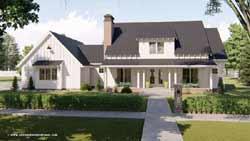 Modern-Farmhouse Style Home Design Plan: 52-363