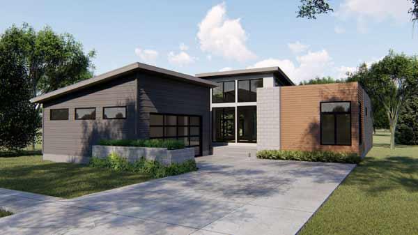 Modern Style Home Design Plan: 52-364