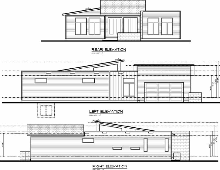 Rear Elevation Plan: 52-364