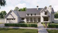 Modern-Farmhouse Style Home Design Plan: 52-366