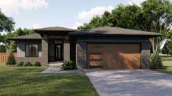 Modern Style House Plans Plan: 52-371