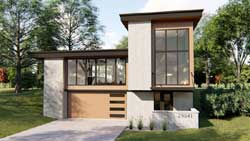 Modern Style House Plans Plan: 52-376