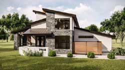 Modern Style Home Design Plan: 52-379