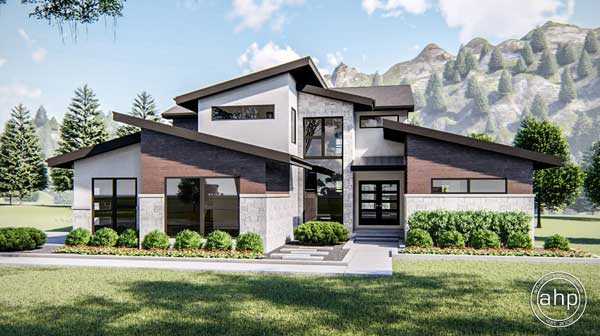 Modern Style House Plans Plan: 52-385