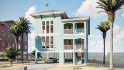 Coastal Style Home Design Plan: 52-386