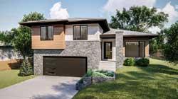 Modern Style Home Design Plan: 52-387