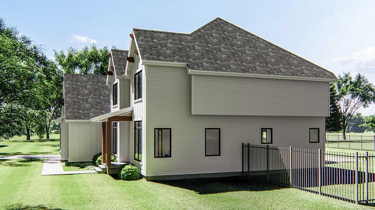 Modern-farmhouse House Plan - 5 Bedrooms, 3 Bath, 3617 Sq ...