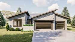 Modern Style Floor Plans Plan: 52-391
