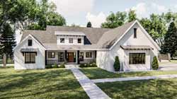 Modern-Farmhouse Style House Plans 52-392