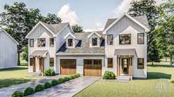 Modern-Farmhouse Style Home Design Plan: 52-395