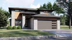 Prairie Style Home Design Plan: 52-398