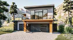 Modern Style House Plans Plan: 52-401