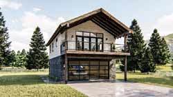 Mountain-or-Rustic Style Home Design Plan: 52-402