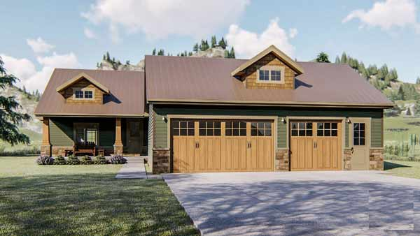 Craftsman Style Floor Plans Plan: 52-403
