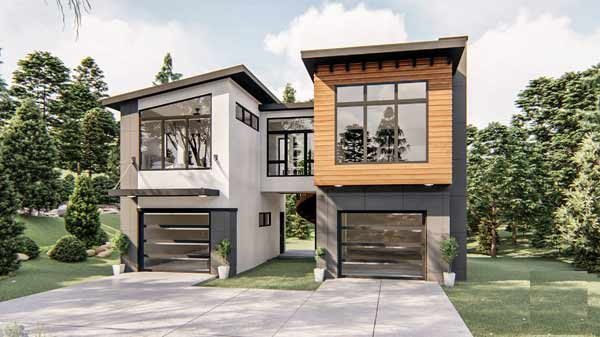 Modern Style Floor Plans Plan: 52-405