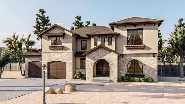 Mediterranean Style House Plans Plan: 52-406