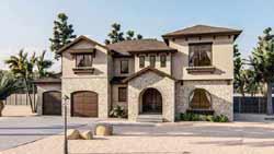 Mediterranean Style Home Design Plan: 52-406
