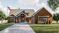 Craftsman Style Floor Plans Plan: 52-407
