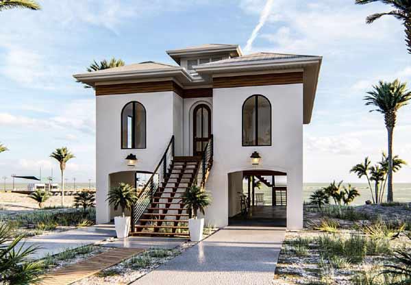 Coastal Style Home Design Plan: 52-412
