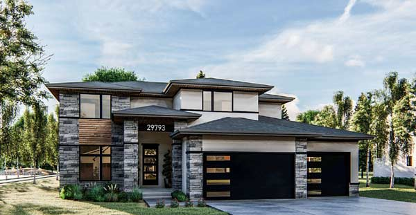 Modern Style House Plans Plan: 52-417