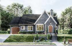 European Style Home Design Plan: 52-424