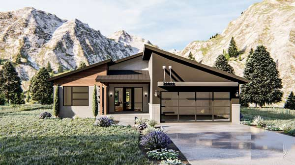 Modern Style House Plans Plan: 52-428