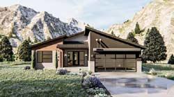 Modern Style Home Design Plan: 52-428