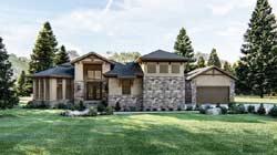 Modern Style Home Design Plan: 52-429