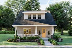 Craftsman Style Home Design Plan: 52-431