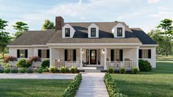 Southern Style Floor Plans Plan: 52-432