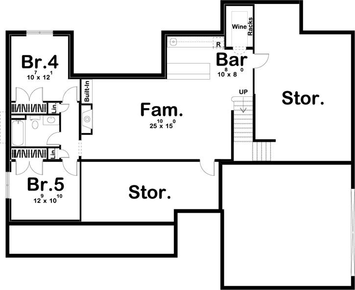 Lower Floor Plan: 52-442