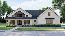 Modern-Farmhouse Style House Plans Plan: 52-442