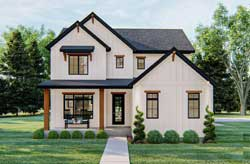 Modern-Farmhouse Style Floor Plans Plan: 52-448