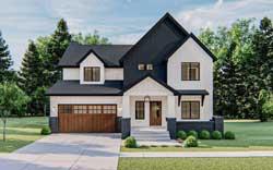 Modern-Farmhouse Style Floor Plans Plan: 52-450