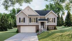 Traditional Style Home Design Plan: 52-451