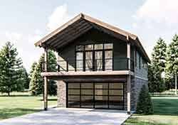 Contemporary Style Floor Plans Plan: 52-458