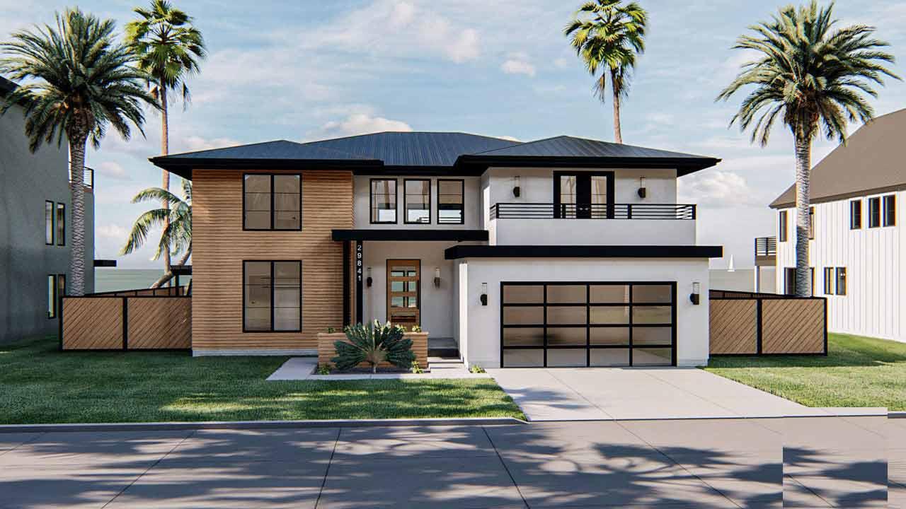 Modern Style House Plans Plan: 52-469