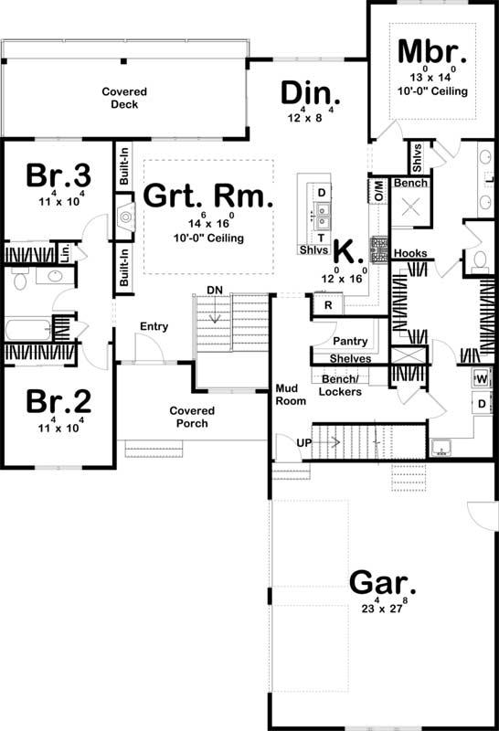 Main Floor Plan: 52-491
